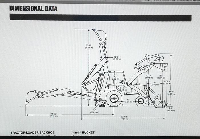 1995 Retroexcavadora Case 680 K