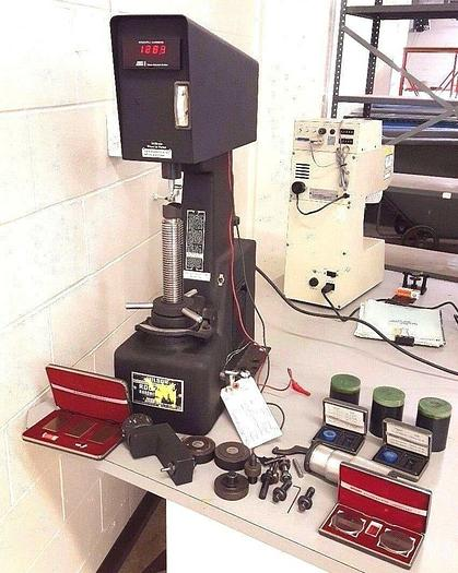 Used Rockwell Hardness Tester Wilson Digital Steel Brass Metal Testing with Tooling
