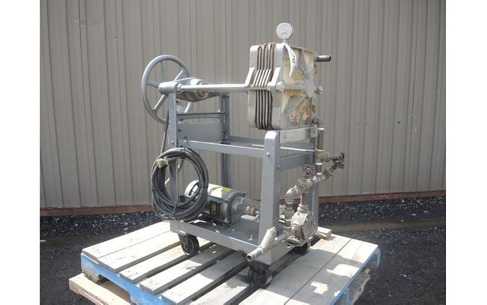 "USED FILTER PRESS, PLATE & FRAME, 12"" X 12"", STAINLESS STEEL"