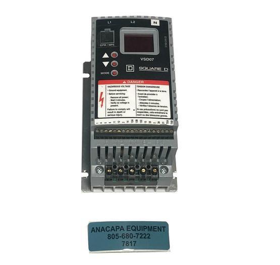 Used Square D VSD07 U09 P10 Speed Drive Controller Motor VFD Inverter USED (7817) R
