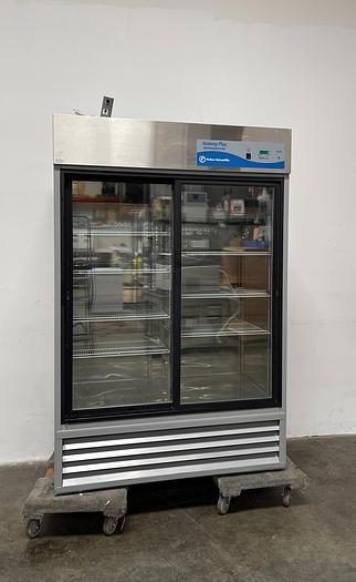 Used Fisher Scientific 13-986-128S Isotemp -10C° Two Glass Door Refrigerator 115V