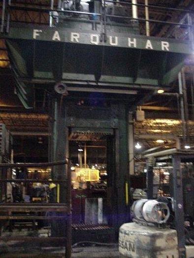 """600 Ton Farquhar Straight Side Hydraulic Press; 50"""" x 50"""" Bed; 72"""" Stroke; 144"""" DLO; High Speed; P.O.R."""