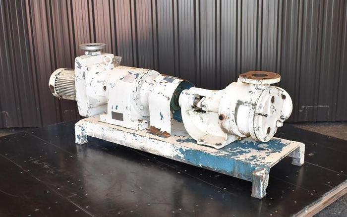 "USED VIKING GEAR PUMP, 3"" X 3"" INLET & OUTLET, CAST IRON, JACKETED"
