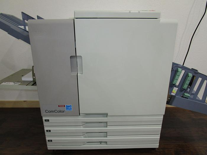 Used Riso ComColor 9050R Full Color Inkjet Printer with Auto Stacking Tray