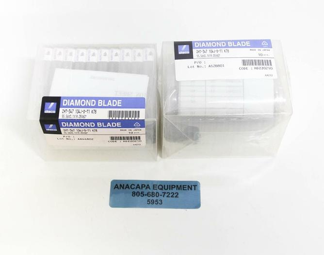 Disco Diamond Blade ZHT-347 104J-D-T1 K78 LOT of 20 NEW (5953)