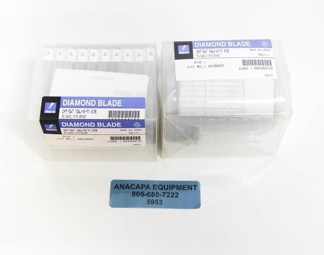 Disco Diamond Blade ZHT-347 104J-D-T1 K78, 55.56X0.19.05X60 LOT of 20 NEW (5953)