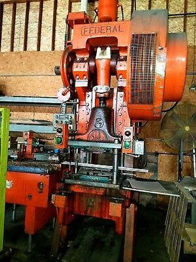 """Used Federal 80 Ton Punch Press Stamping 8 Inch Stroke 28"""" x 36"""" Bed A/C A/B Must Go!"""