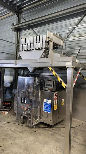 Used Newtec 9 channel weighing line