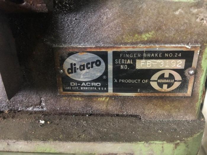 DiAcro Brake Press Model No. 24