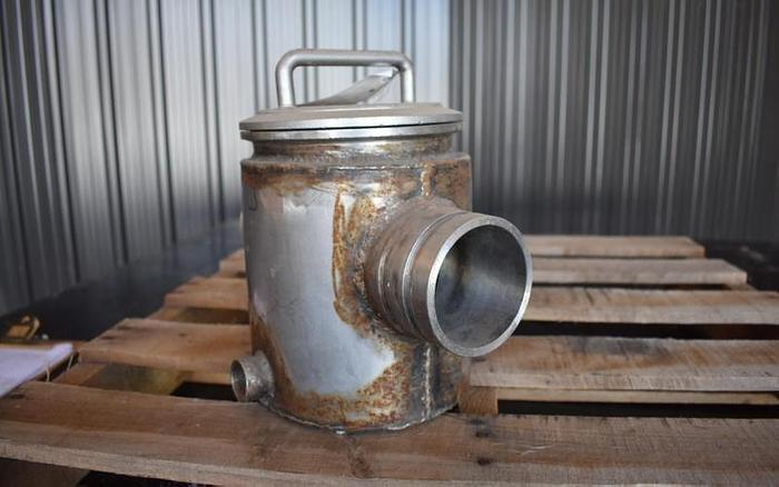 """USED 3"""" ERIEZ MAGNETICS JACKETED MAGNET TRAP, STAINLESS STEEL"""