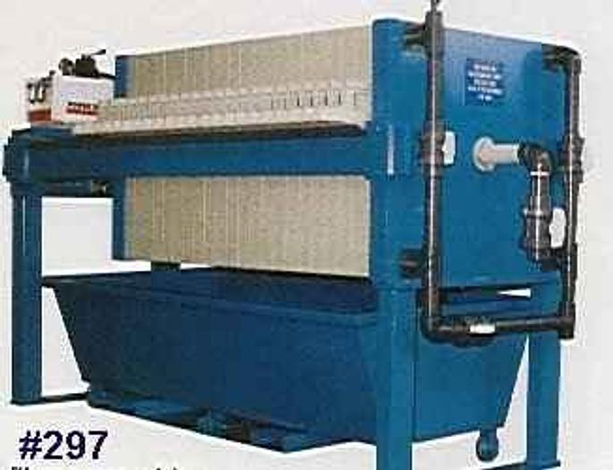 Used 10 CU. FT. 800 MM FILTER PRESS WITH AUTOMATIC CLOSURE  (NEW) #0297