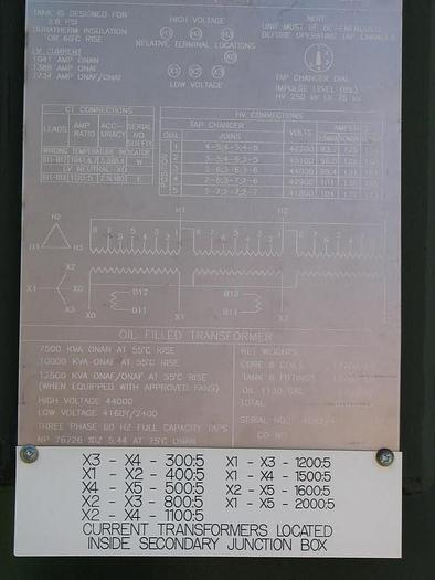 7.5 MVA Station Transformer