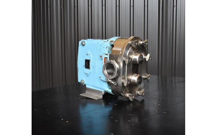 USED WAUKESHA ROTARY LOBE PUMP, MODEL 060, STAINLESS STEEL