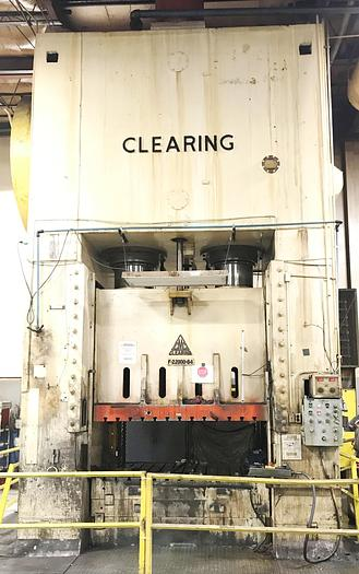 "2000 ton Clearing 84""x60"" Used Stamping Press"
