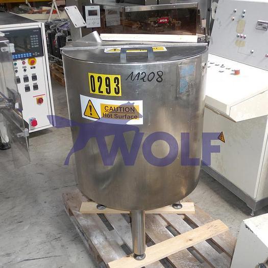 Gebraucht Edelstahl-Behälterca. 200 Liter Inhalt, einwandig.