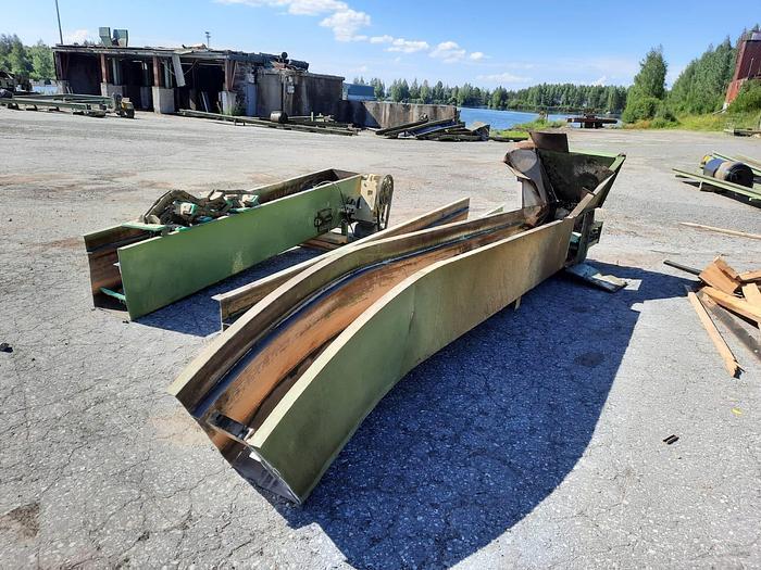 Used Heinola Scraper conveyor 45 degrees