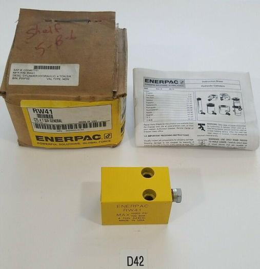*NEW IN BOX* ENERPAC RW-41 HYDRAULIC CYLINDER 4 TON 10000 PSI A2311C + WARRANTY!