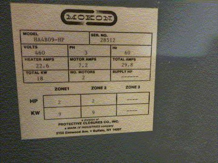 Used 18Kw Mokon 2 Zone Control Panel, 460 Volt (210)