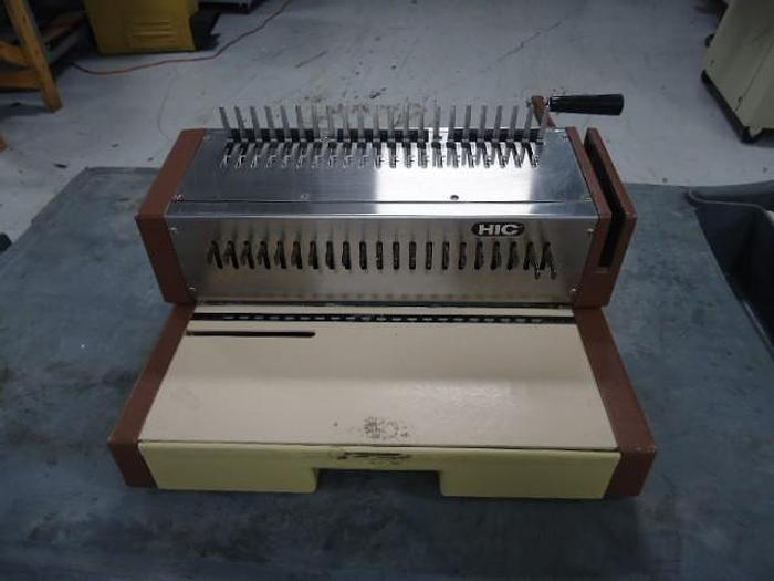 Used HIC HPB-210 Manual Comb binding machine
