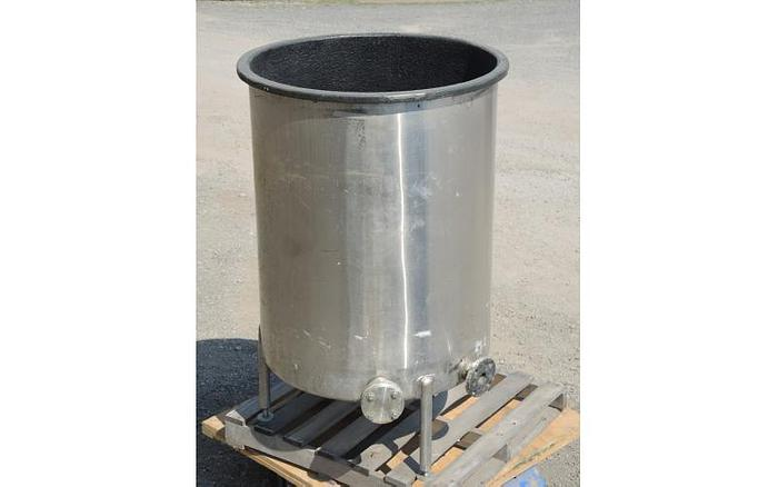 USED 185 GALLON TANK, STAINLESS STEEL