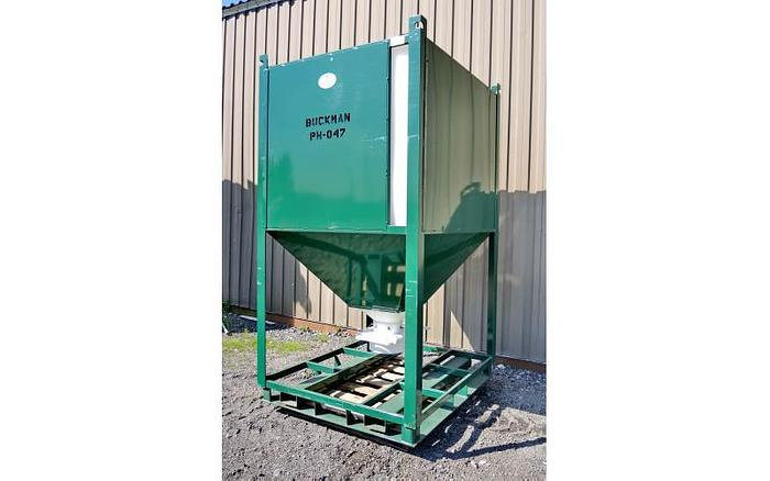 USED 540 GALLON TANK (TOTE), STACKABLE POLY BINS WITH STEEL FRAME