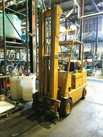 Used Caterpillar 20 FOOT LIFT FORKLIFT 5500 Lb Truck Propane High Lifting Stability