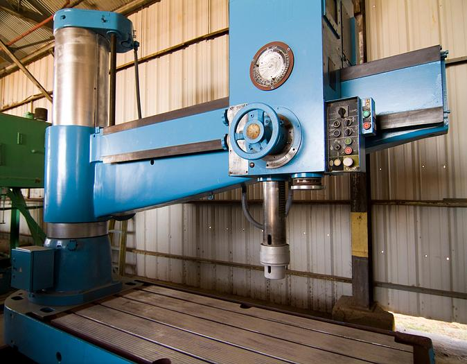 "Used 8 ft. x  24"" WMW Model BR 80-2500 GH Radial Arm Drill"
