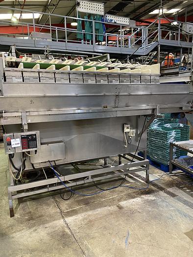 Used Newtec 2012 XBG double drop conveyor. Serial no-4949 YOM-1999