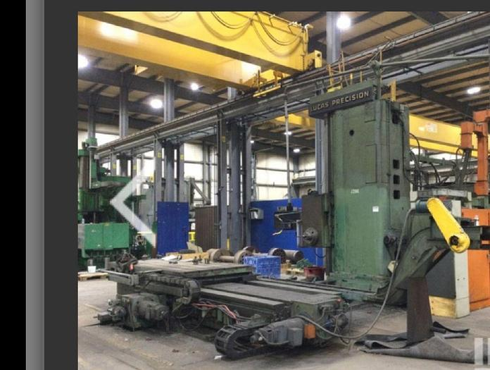 """Used 7 """" Lucas CNC Table Type Horizontal Boring Mill, Table size 60"""" X 128"""", X Travel 120"""", Y Travel 84"""", Fanuc CNC"""