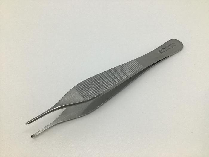 Used Forceps Tissue Dissecting Adson 1 in 2 Teeth 120mm