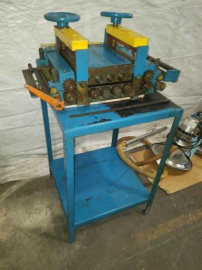 """Used Standard 10"""" Stock Straightener Camber Leveler Roll Feed For Metal Stamping"""