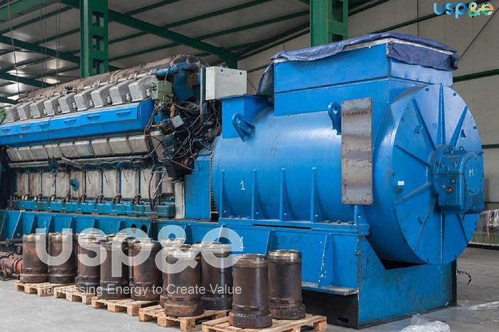 Used 8.6 MW 2011 Used STX Engine Co 18V32/40 HFO Generators