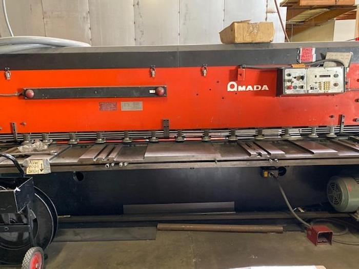 "Used 1985 10'x1/4"" Amada M-3060 CNC Power Squaring Shear"