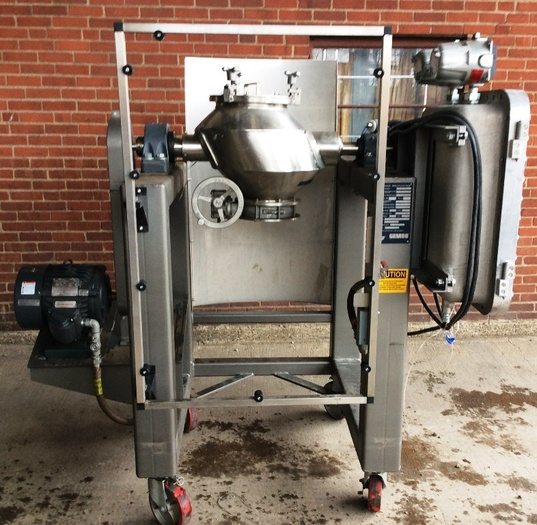 1 Cubic Ft. Gemco Stainless Steel Direct Drive Cone Blender Type Slant Cone
