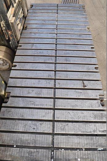 """Used 144 x 54 x 9"""" T SLOTTED BOLSTER PLATE"""