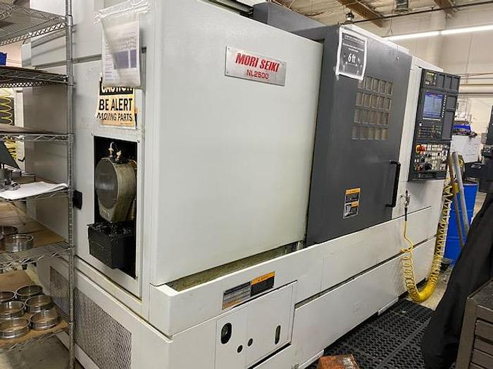 Used 2005 MORI SEIKI NL-2500/700 CNC TURNING CENTER LATHE MSX-850 CONTROL #5748