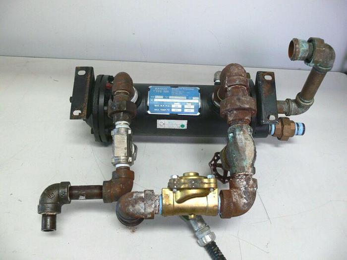 Used Basco / API Type 500 Heat Transfer Size 05014 W/ Asco 8220625 Solenoid Valve