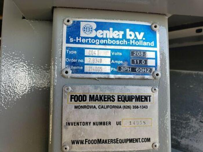 """BENIER"" MODEL C04, CYLINDRICAL ROUNDER, W/POWERED, ADJUSTABLE ROUNDING RACES"