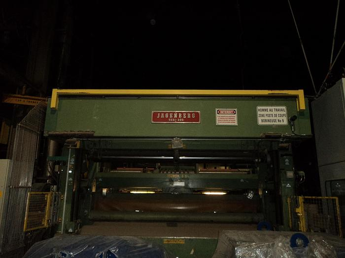 "Used 150"" (3.80M) TRIM WIDTH JAGENBERG VARI-DUR 65-15 60"" REWIND DIAMETER"