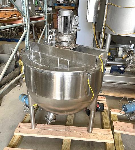 Used 60 GALLON LEE SINGLE MOTION SCRAPE AGITATED KETTLE - S/S - JACKETED