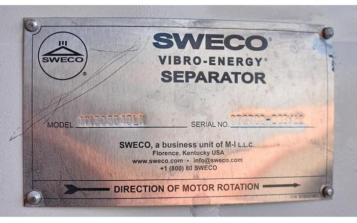 "USED SWECO SCREEN, 30"" DIAMETER, STAINLESS STEEL, SINGLE DECK, SANITARY"