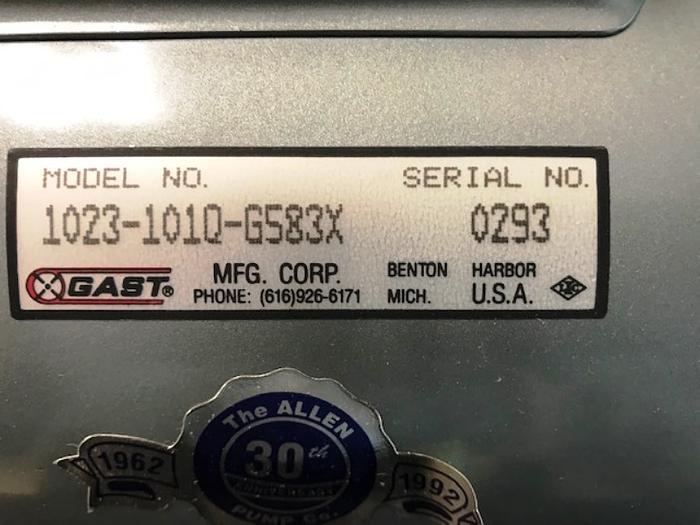 Gast Vacuum Pump Model 1023-1010-G583X