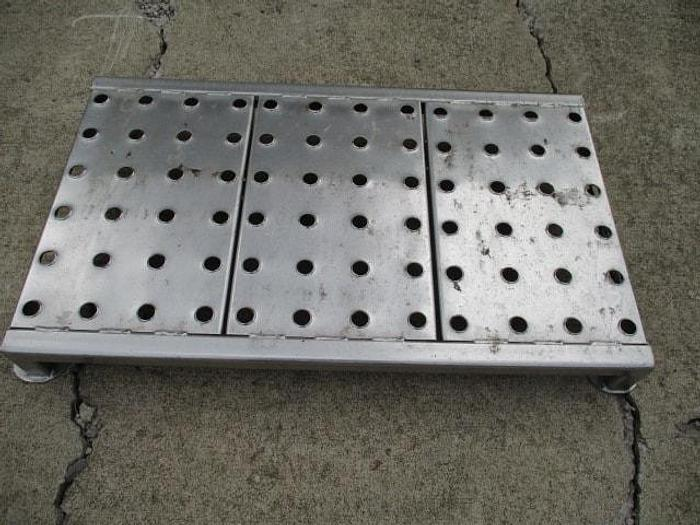 """Used Work Platform; 36""""x21"""" Perforated deck for anti-slip, 4"""""""