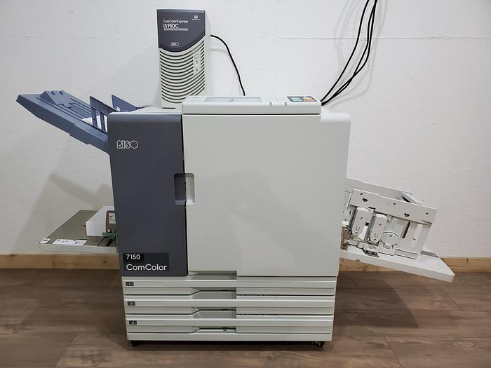 Used Riso ComColor 7150 X1 Full Color Inkjet Printer with Wide Stacking Tray and IS950C RIP Controller