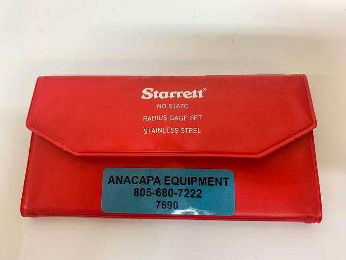 Used Starrett NO S167C Radius Gage Set Stainless Steel Missing 3/64 Gage (7690) W