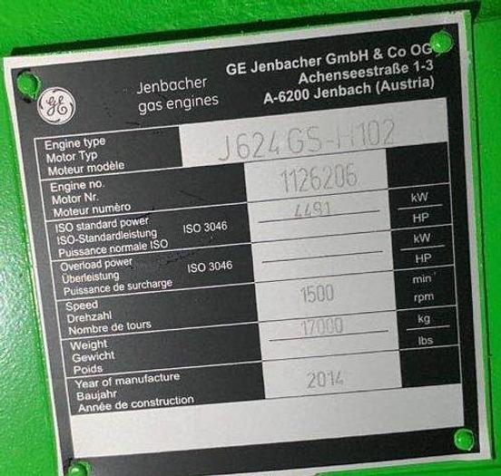 Jenbacher J624GS x 2 Brand new gas generator sets