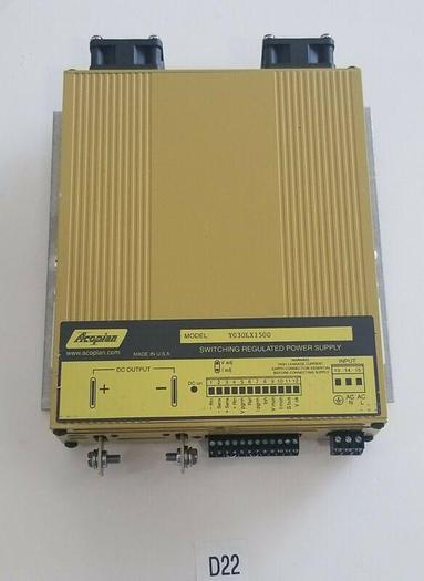 Used *PREOWNED* Acopian Power Supply  Y030LX1500 15AMP Input 90-350V Output 0-30V
