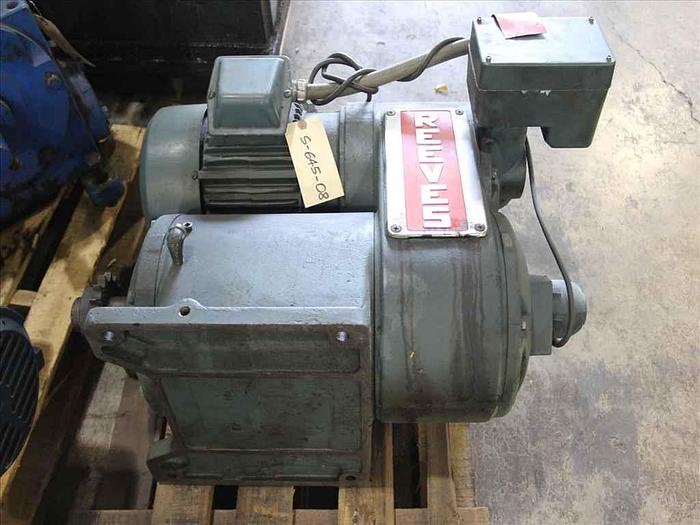 Used 3 HP Reliance/Reeves Drive