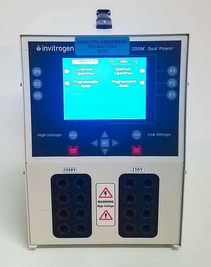 Used Invitrogen Zoom Dual Power Supply ZP10001 for Electrophoresis Applications (4973
