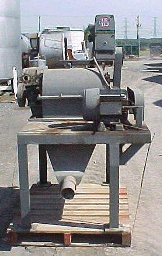 USED AMERICAN PULVERIZER HAMMER MILL, FIXED HAMMERS, CARBON STEEL, 7.5 HP